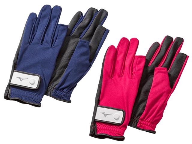 手袋ニット指出しタイプ (ミズノ/C3JGP800/グラウンド・ゴルフ手袋)