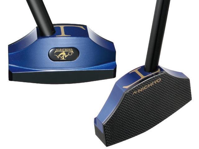 ニチヨー アルバトロス2モデル T-2 カラー ブルーのヘッド部分、写真左側が裏面、右側が表の打球面
