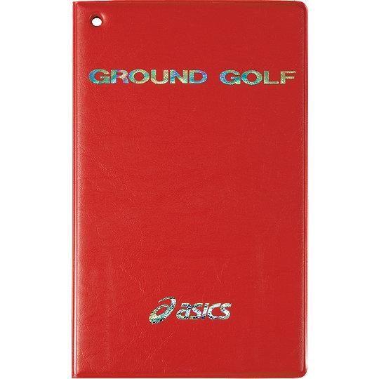 アシックス グラウンドゴルフ GGG526 スコアカードカバー レッド