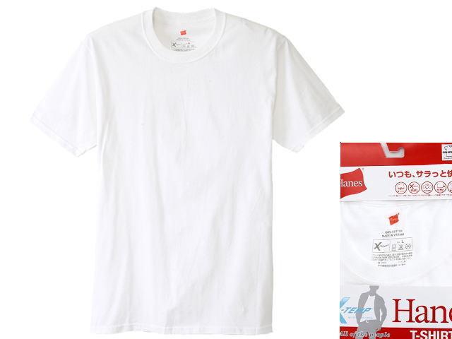 ヘインズクルーネック半袖Tシャツ