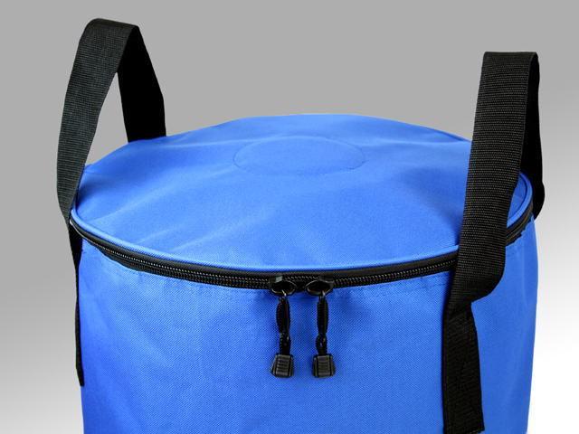 ホールポスト収納バッグ上部蓋は両ファスナーで開閉