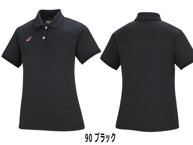 W'Sポロシャツ ブラック (女性用) アシックス/XA6190