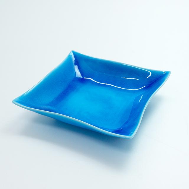 浅黄5寸角浅鉢