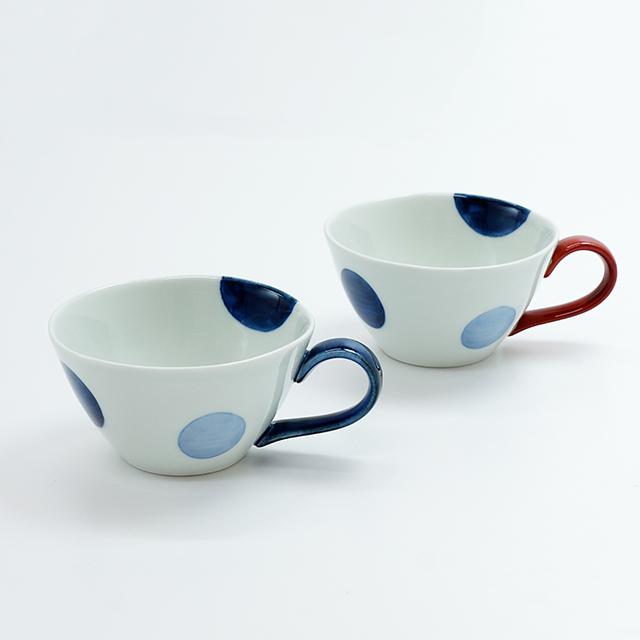 二色丸紋スープカップ(2色)