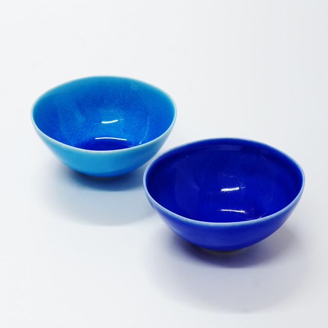 波佐見焼 康創窯 カラーライン 丸小付 丸鉢 ボウル ブルー