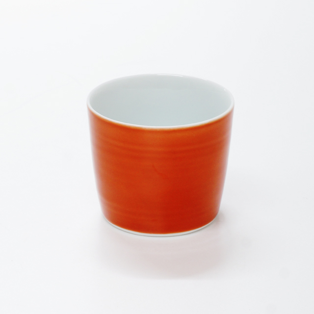 波佐見焼 康創窯 カラーライン フリーカップ そばチョコ カラフル