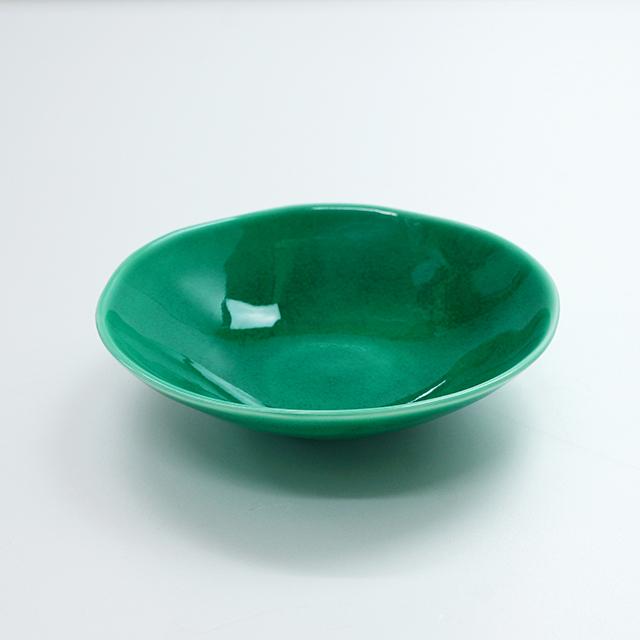緑交趾5寸浅鉢