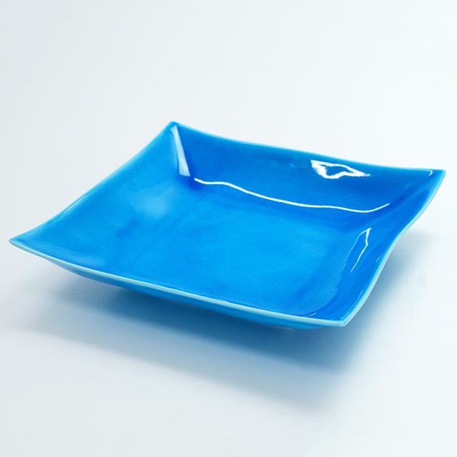 浅黄7.5寸角浅鉢