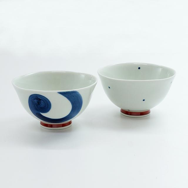染付茶碗(2柄)