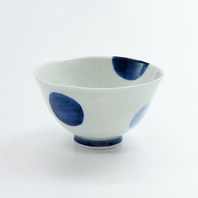 二色丸紋茶碗(大)