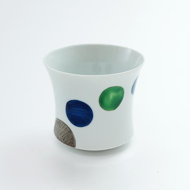 銀彩流水玉反焼酎カップ