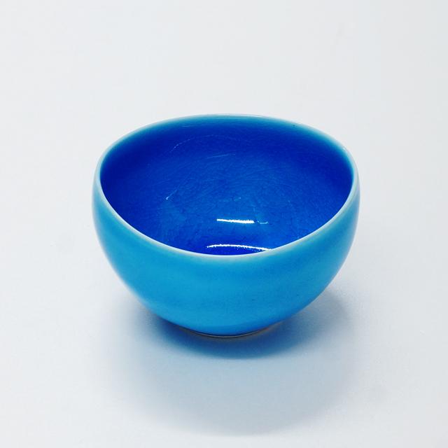 波佐見焼 康創窯 カラーライン ぐい呑 小付 ブルー