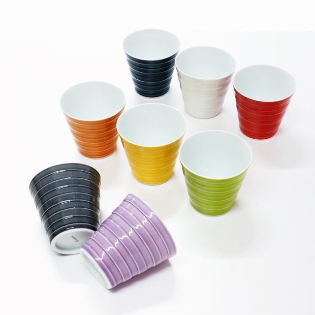 波佐見焼 康創窯 カラーライン 丸皿 プレート ライン ボーダー