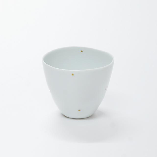 波佐見焼 康創窯 プラチナライン フリーカップ 水玉 ドット
