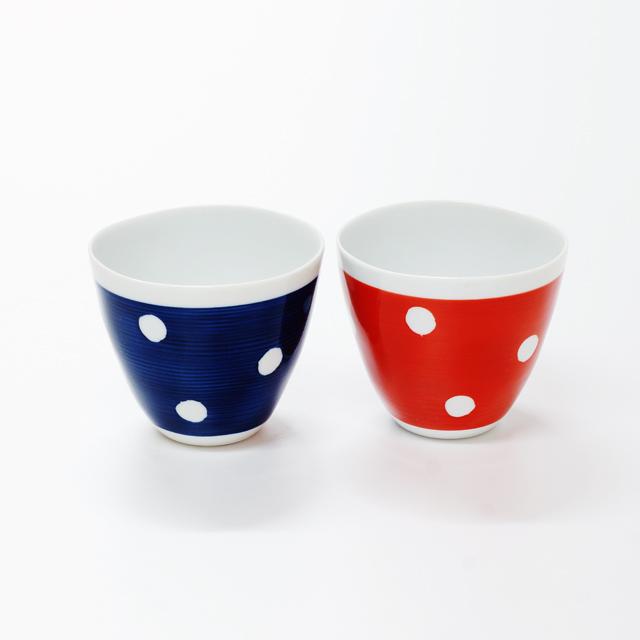 波佐見焼 康創窯 カジュアルライン フリーカップ ドット 水玉
