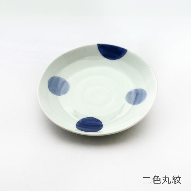 波佐見焼 康創窯 染付取皿(6柄) シンプルライン 染付 二色丸紋