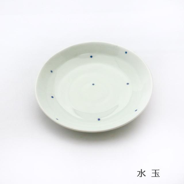 波佐見焼 康創窯 染付取皿(6柄) シンプルライン 染付 水玉