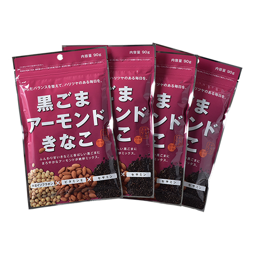 幸田商店 黒ごまアーモンドきなこ 90g ×4袋