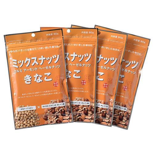 幸田商店 ミックスナッツきなこ 80g ×4袋