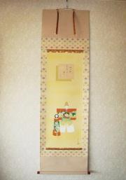 掛け軸 お雛◆堀 高泉