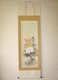 掛け軸 四季花◆石田大寿