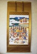 掛け軸 釈迦涅槃之図◆工芸品