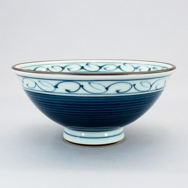 波佐見焼 一誠陶器 呉須巻かぶ 特大飯碗