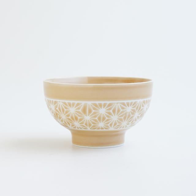 波佐見焼 一誠陶器 色麻の葉 飯碗 小 コハク