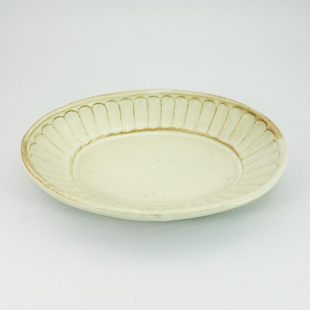 益子焼 kinari鎬 楕円深皿(小)
