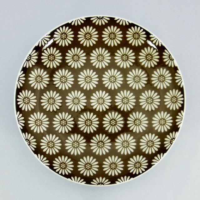 波佐見焼 和小紋 小花 取皿(茶)