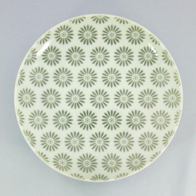 波佐見焼 和小紋 小花紋 取皿(グレー)