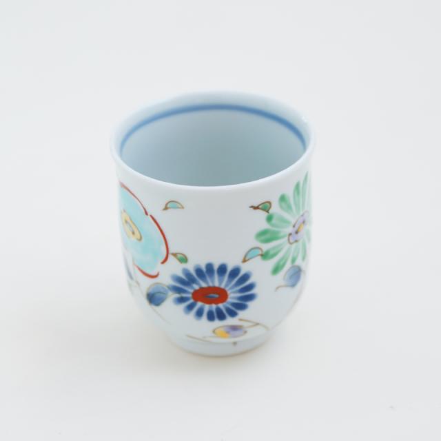 小鳥ガーデン/湯呑(緑)|空萌工房(そらもえこうぼう)|田口紀美子