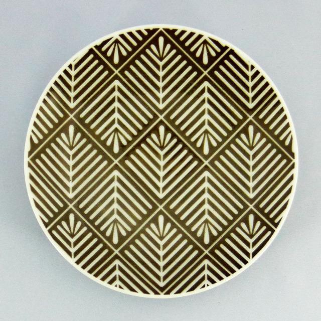 波佐見焼 和小紋 松葉 小皿(茶)