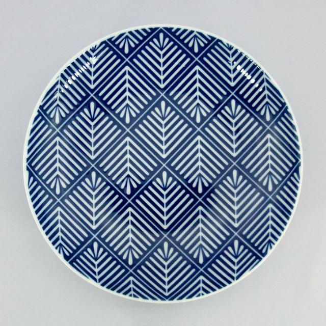 波佐見焼 和小紋 松葉 取皿(青)