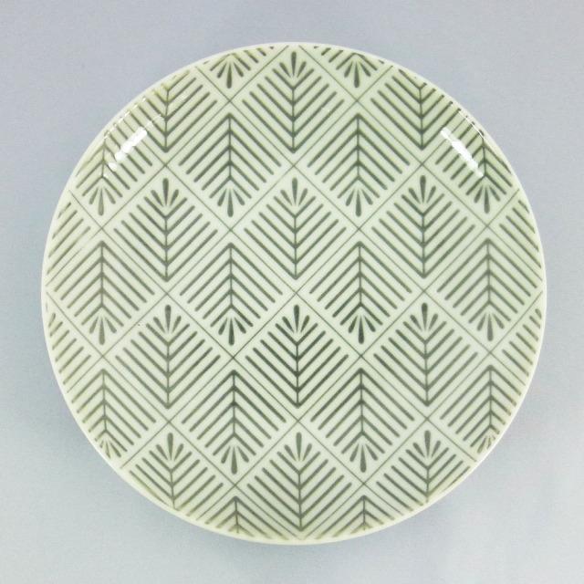 波佐見焼 和小紋 松葉紋 取皿(グレー)