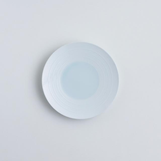 波佐見焼 洸琳窯 見込青白磁千段 4寸皿