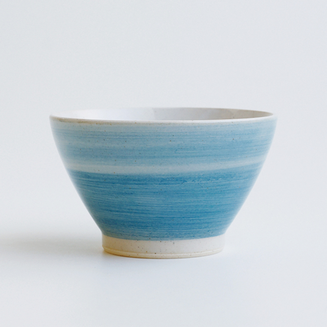 波佐見焼 レトロ碗 カラーズ ブルー