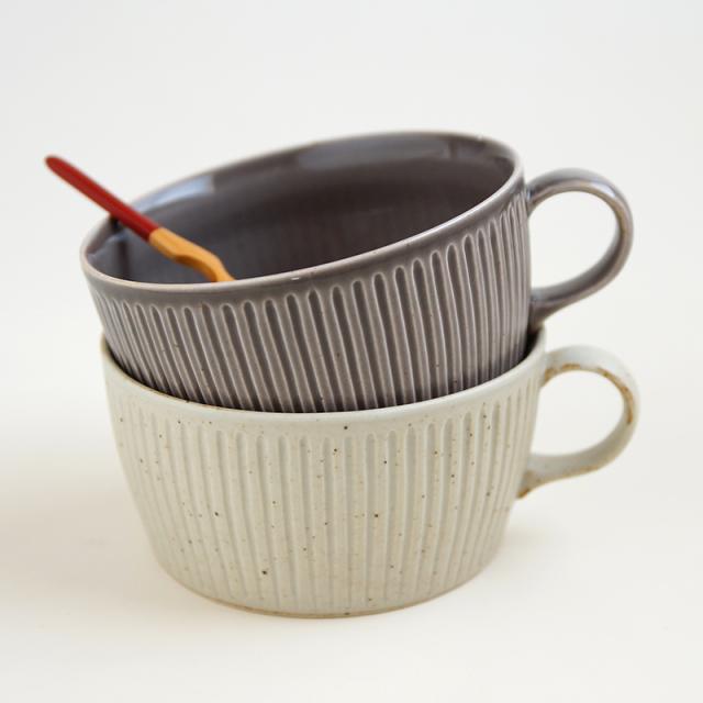 浮彫-UKIBORI-スープカップ&リムプレートL