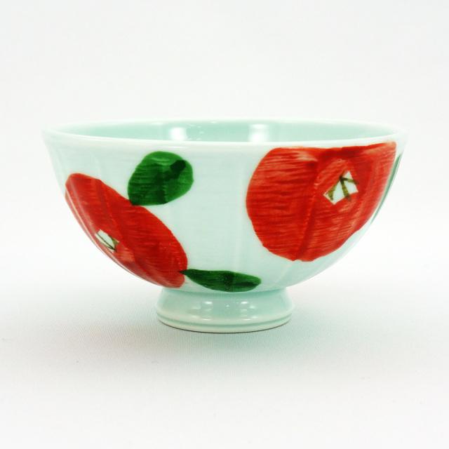 波佐見焼 面取バラ 軽量飯碗(小)