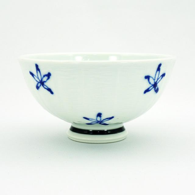 波佐見焼 面取花紋 軽量飯碗(大)