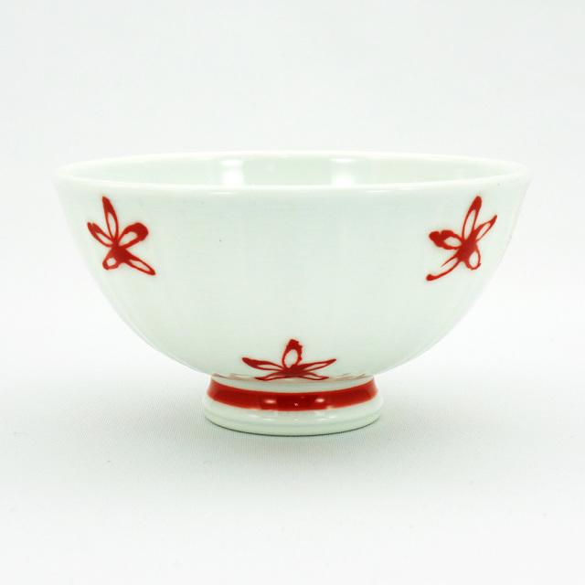 波佐見焼 面取花紋 軽量飯碗(小)