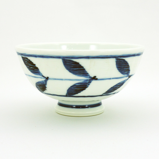 波佐見焼 面取木の葉 軽量飯碗(大)