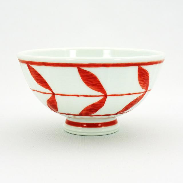 波佐見焼 面取木の葉 軽量飯碗(小)