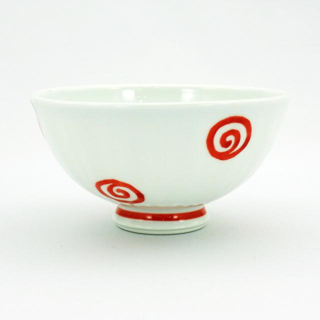 波佐見焼 面取渦 軽量飯碗(小)