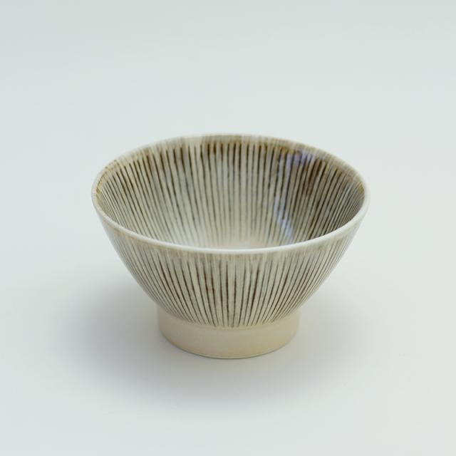 波佐見焼 十草彫 飯碗(茶)