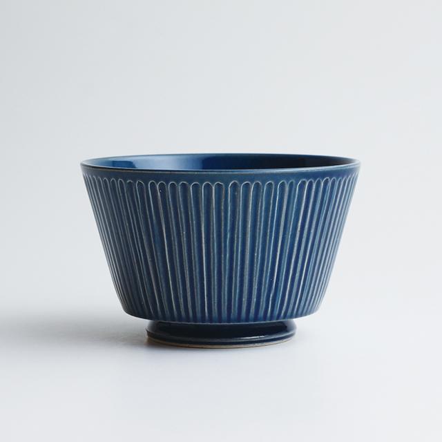 波佐見焼 一誠陶器 浮彫-UKIBORI- ボウル (L) 青