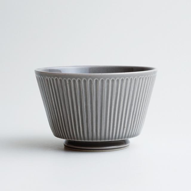波佐見焼 一誠陶器 浮彫-UKIBORI- ボウル (L)  グレー