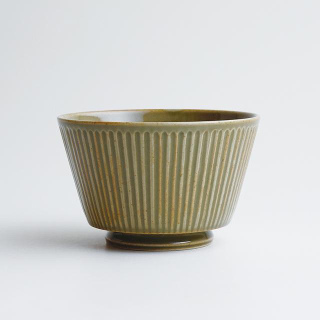 波佐見焼 一誠陶器 浮彫-UKIBORI- ボウル (L)  緑