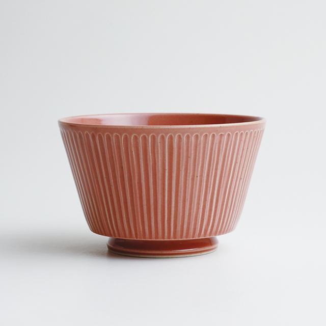 波佐見焼 一誠陶器 浮彫-UKIBORI- ボウル (L)  赤