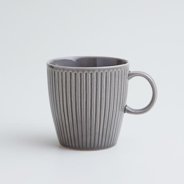 波佐見焼 一誠陶器 浮彫 マグカップ グレー